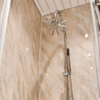 Shower Wall Panel Kit to cover 2 x 1000 walls 5mm pergamon marble 32% off