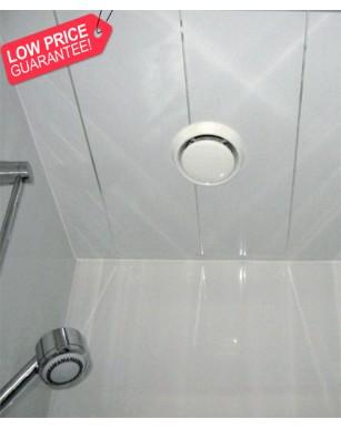 1 X White Gloss Silver 1 Strip 250mm X 2700mm X 5mm PVC Wet Wall Panels