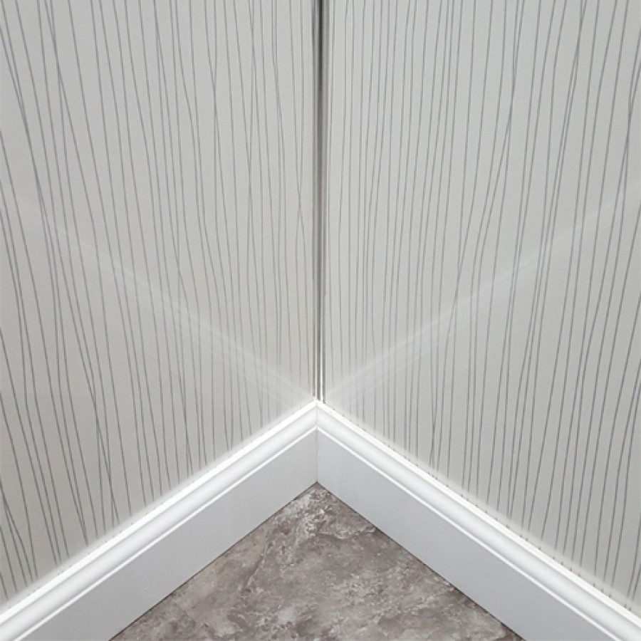 Shower Wall Panel Kit to cover 2 x 1000 walls 5mm White String 45% off
