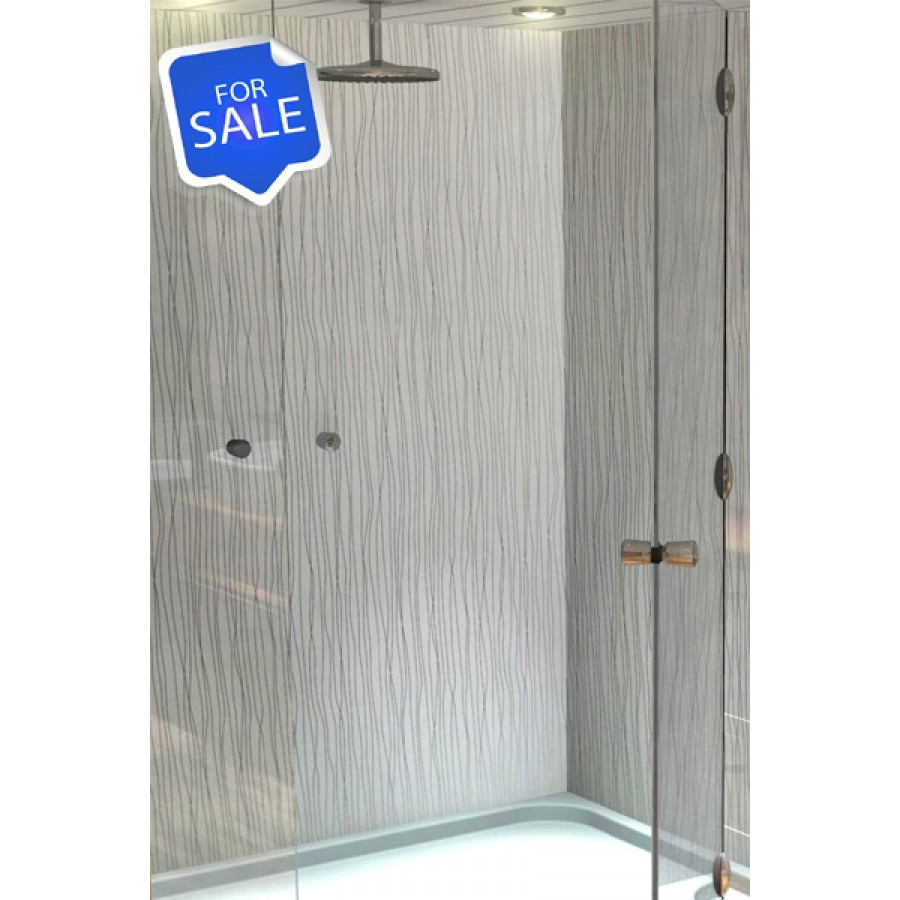 1000MM x 2.4m Shower wall panels wet wall panels white string 10% OFF